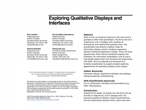 Exploring Qualitative Displays and Interfaces