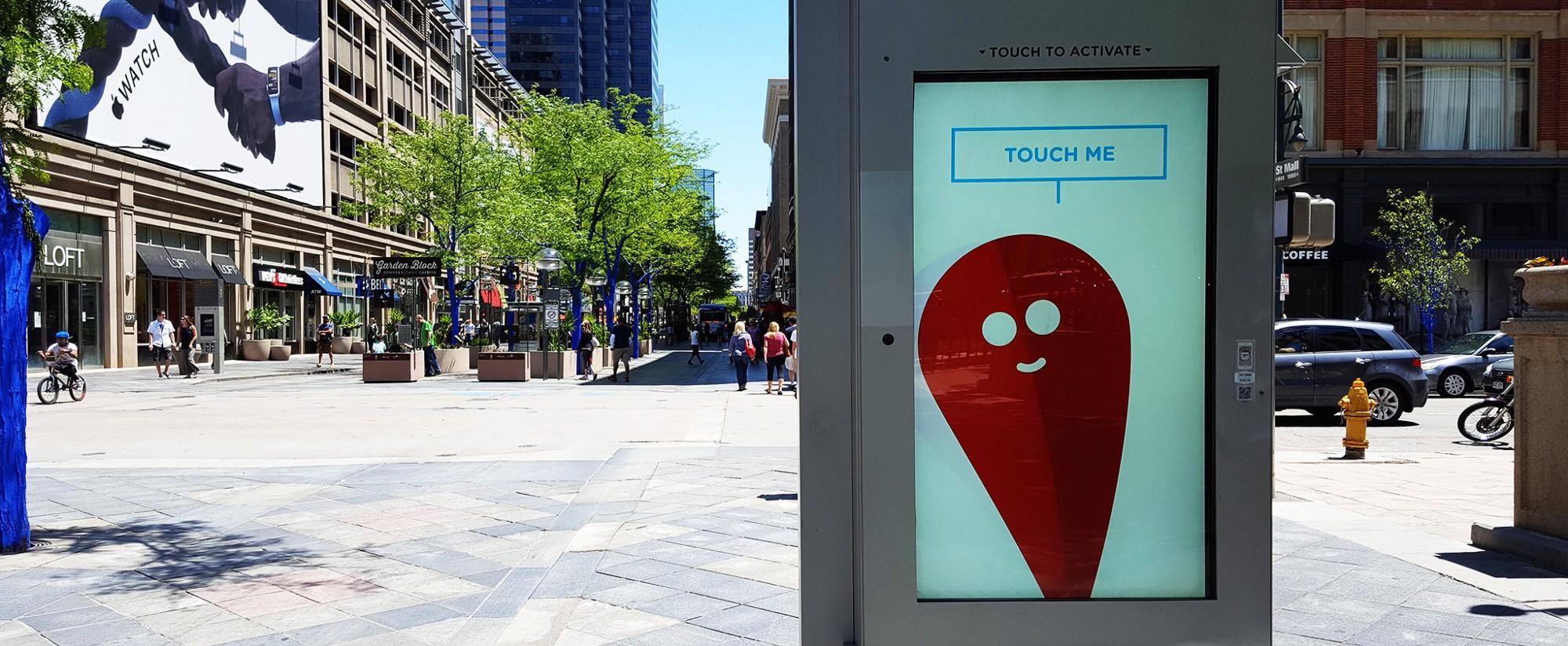 Interactive kiosk, Denver, Colorado. Photo by Dan Lockton