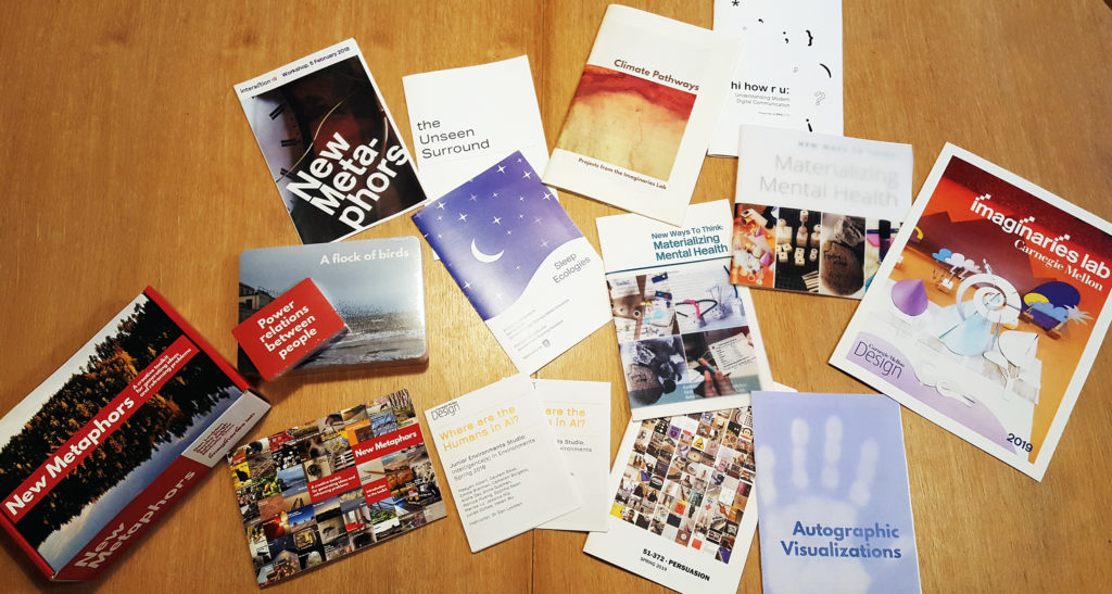 Imaginaries Lab booklets and catalogues