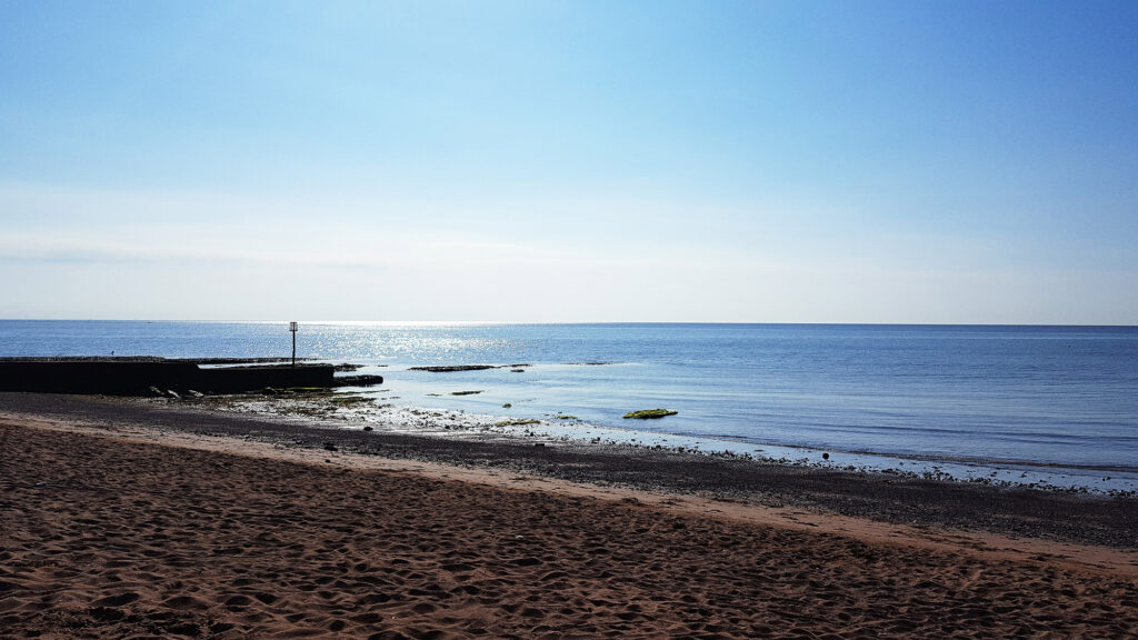 The whale-road and a breakwater at Dawlish, Devon